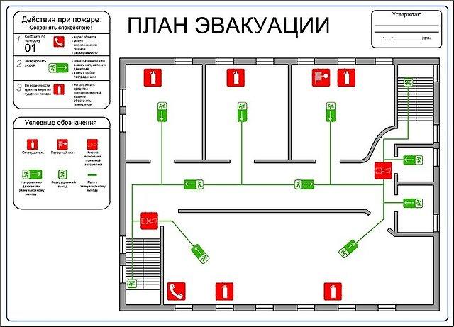 Как на компьютере сделать план эвакуации при пожаре на компьютере